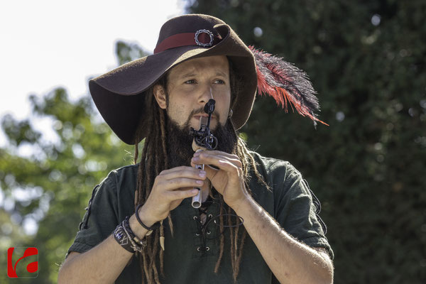Mittelalterfest Zug 2019, am Dudelsack: Simon Schätti (Meril)