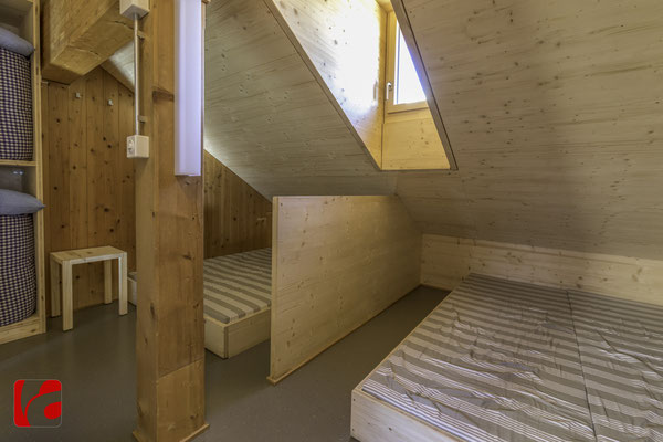 Lämmerenhütte SAC © Detlef Kohl — Gästezimmer im Dachgeschoss