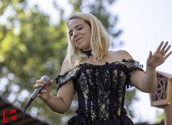 Mittelalterfest Zug 2019, Gsang: Evelyne Imhof (Meril)