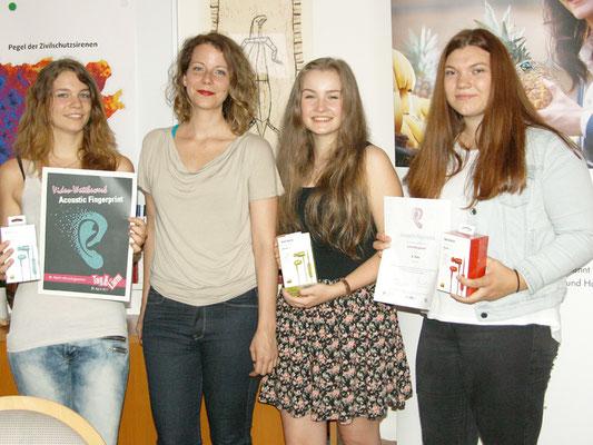 3. Platz - Stadträtin Tina Wirnsberger, Sandra Pranger, Carina Gsett und Simone Moser
