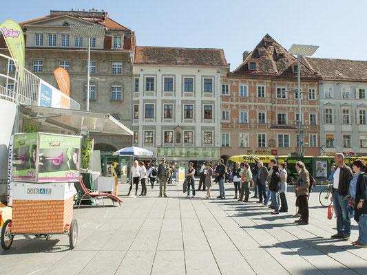 Aktionsort Grazer Hauptplatz
