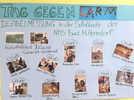 NMS Bad Mitterndorf, Schallpegelmessungen in der Schulküche