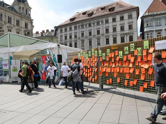Klagemauer am Grazer Hauptplatz