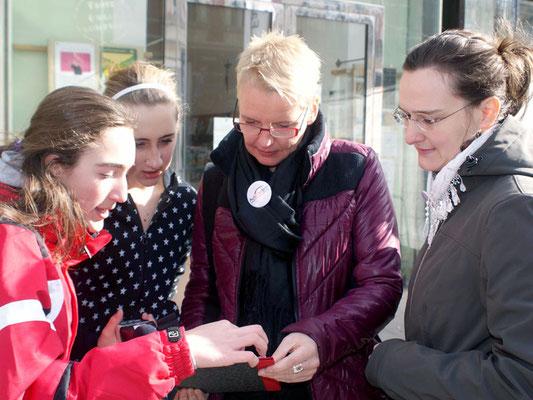 Aktionsbeteiligung Lisa Rücker, Foto: H. Opis-Pieber