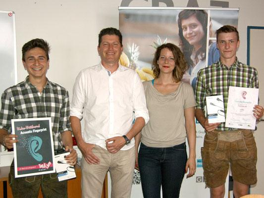 1. Platz - Stadträtin Tina Wirnsberger, Ing. Dietmar Sauer, Georg Fichtinger, Matthias Männer und Matthias Herbst