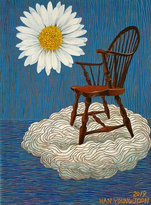 Ohne Titel, 30 x 40 cm, Acryl auf Holz Malplatte (Kkeul Malerei)---------------------- 무제, 30 x 40 cm, 나무판넬에 아크릴(끌 말러라이)