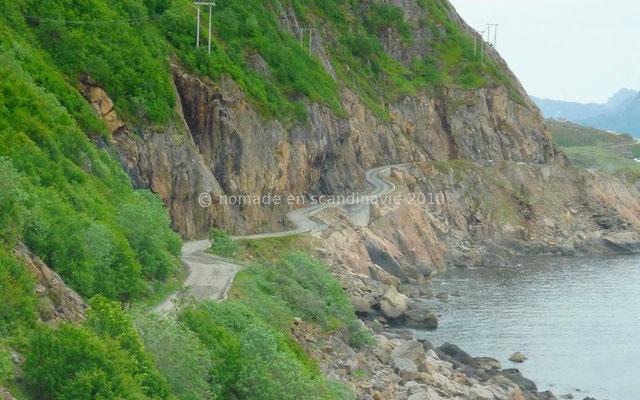 Route d'accès à Nyksund