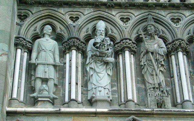 Trondheim: Cathédrale de Nidaros, détails de la façade