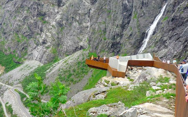 Belvédère au-dessus de Trollstigen.
