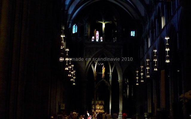 Trondheim: Intérieur de la cathédrale de Nidaros