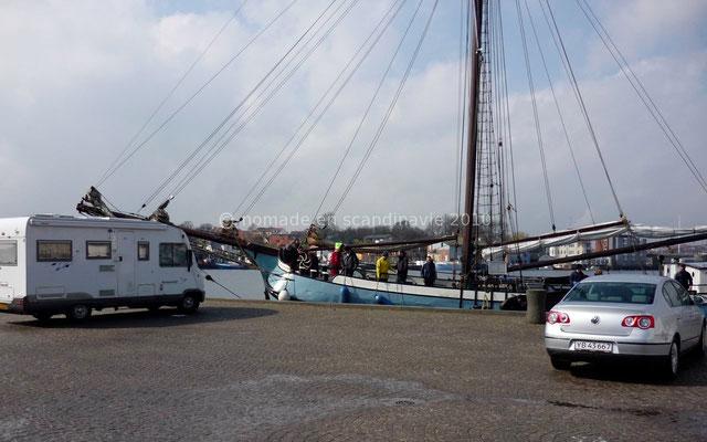 Sønderborg: déjeuner sur le port.