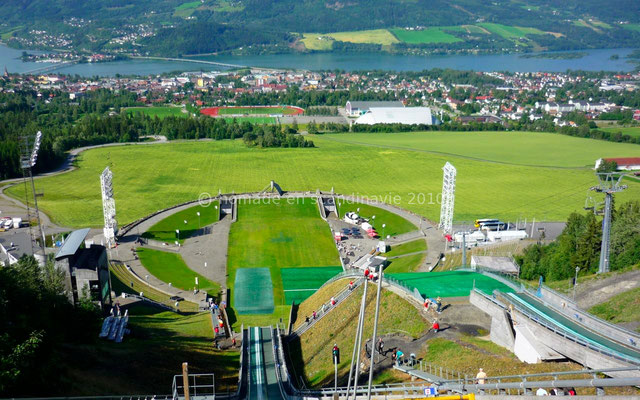 Beau panorama sur Lillehammer