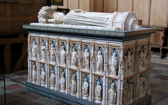 Roskilde, cathédrale, tombeau de la reine Marguerite 1ère.