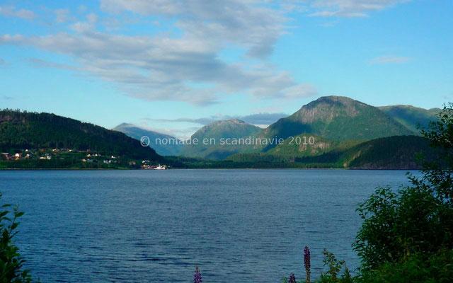 Belle vue sur le fjord