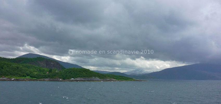 Traversée d'un fjord