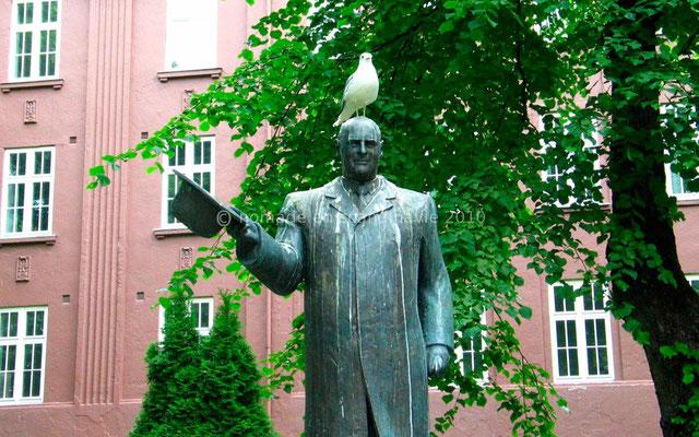 Les pigeons sont peu respectueux de la statue (du roi?)
