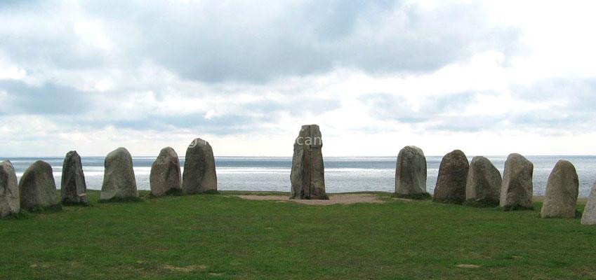 Ales Stenar, alignement de pierres pour une sépulture viking