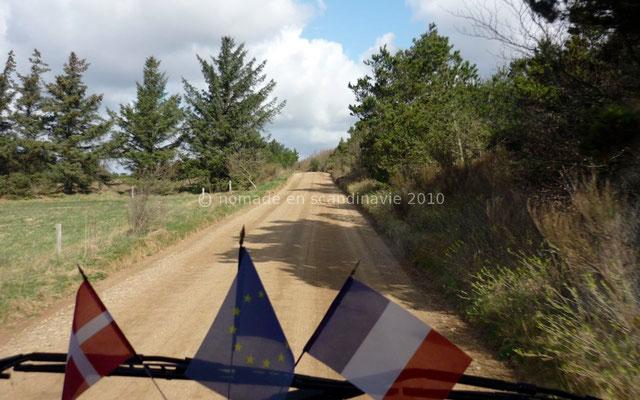 La Route Marguerite se transforme en piste non revêtue