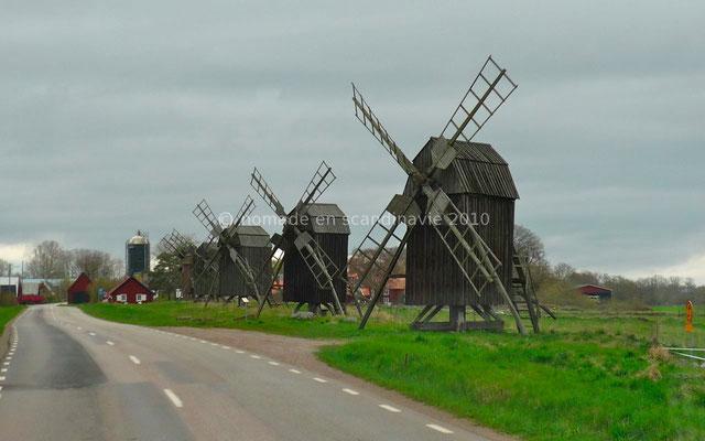 L'île d'Öland possède de nombreux moulins