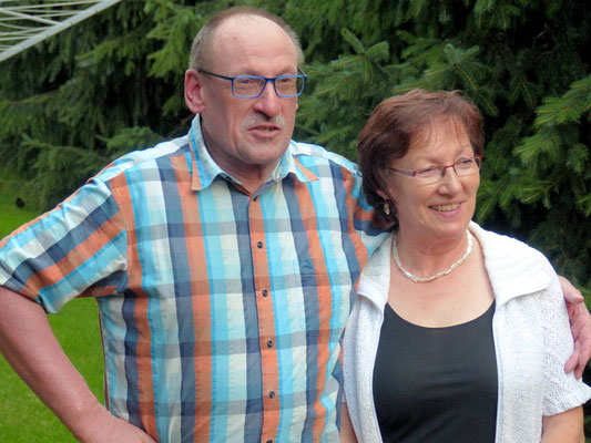 Unsere Gastgeber, Lisa und Horst (Bernt Halbauer)