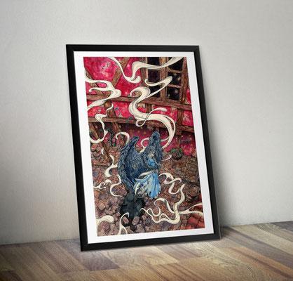 """Постер  """"Ходячий замок Хаула"""" или """"Взрывная волна"""""""