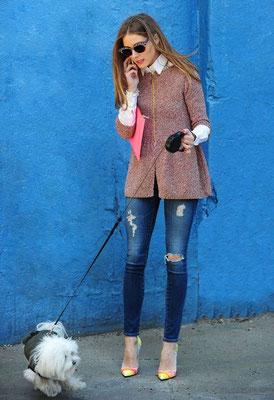 Olivia Palermo (et son chien)