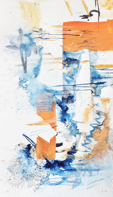 'Abstract III' 2017, Watercolors on paper