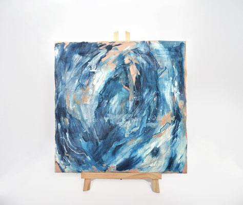 'Drift' oils & threads on canvas (2017)