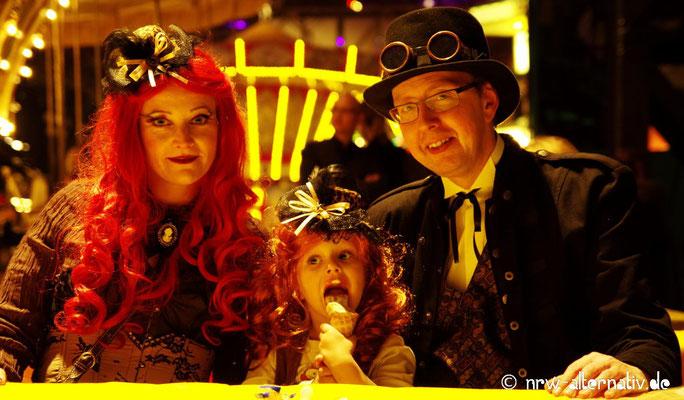 Unschwer zu erkennen: Der Steampunk-Jahrmarkt bot Spaß und Unterhaltung für die ganze Familie