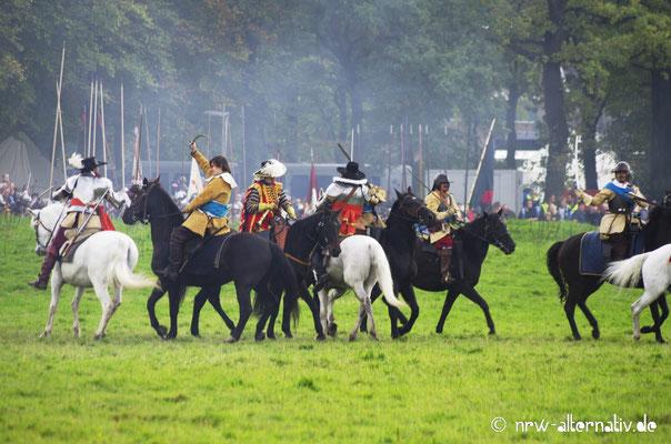 Reiterei während der Schlacht