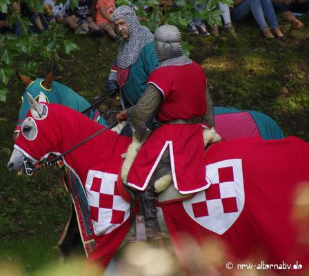 Ritterturnier während des Gaudiums auf Schloss Horst
