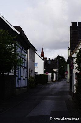 Kleine Gasse in Bad Sassendorf.