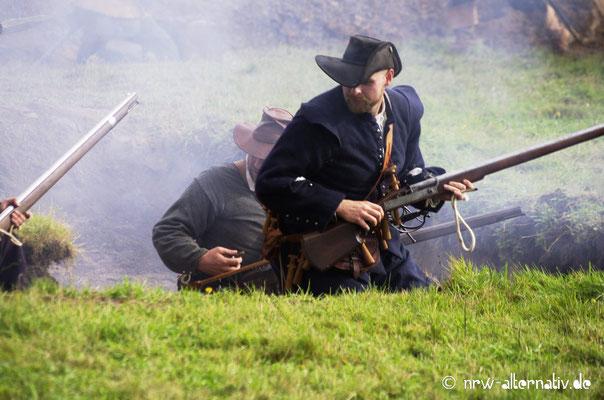 Im Graben während der Schlacht