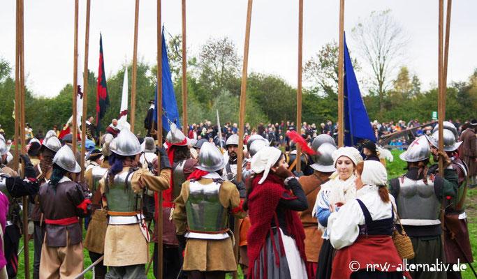 Auf dem großen Schlachtfeld herrschte mitunter Gedränge.