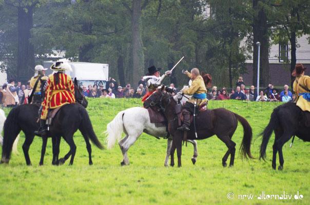 Gefechte zu Pferde gehörten natürlich ebenfalls zum Geschehen.
