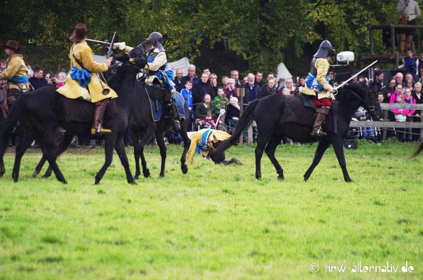 Hoch zu Ross: Reiterei während der Schlacht.