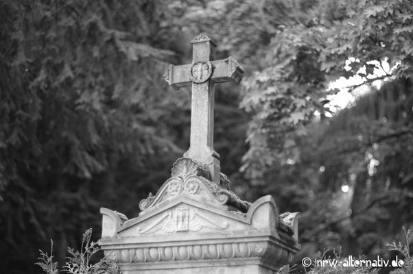 Prunkvoll: Grabmal auf dem Friedhof Melaten in Köln.