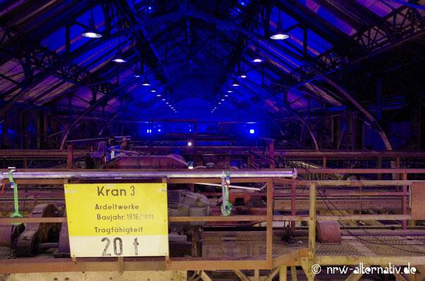 Blick unter das Dach der Jahrhunderthalle Bochum