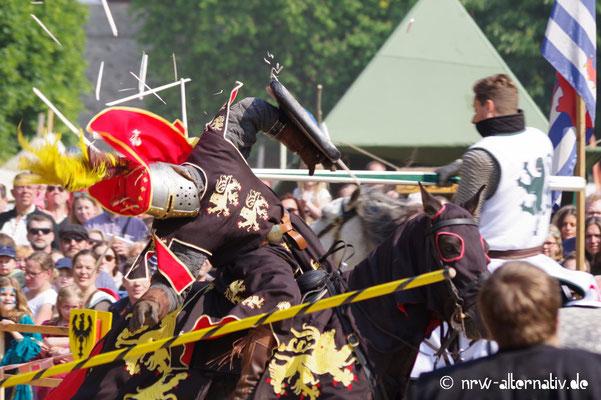 Viel zu sehen beim Ritterturnier in Mühlheim