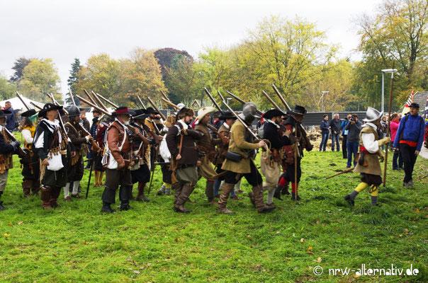 Fußvolk während der Schlacht