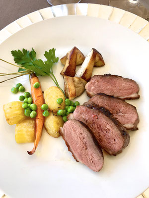 Grilled duck with vegetables by ZsL