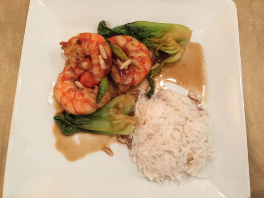 Thai shrimps with basmati rice by ZsL