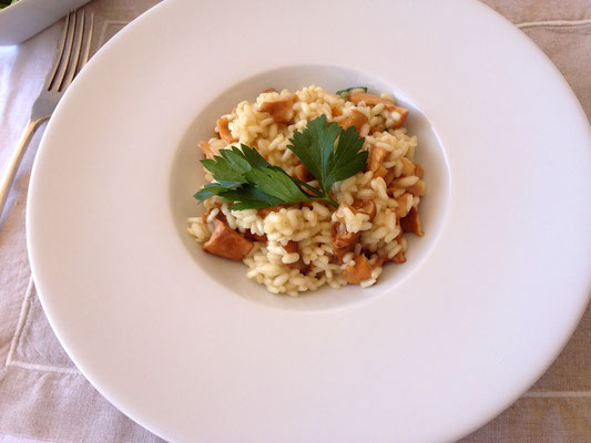 Risotto with chanterelles mushrooms by ZsL