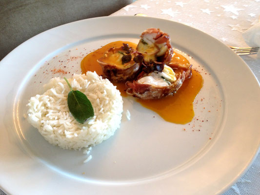 Monk fish with orange glaze and basmati rice by ZsL