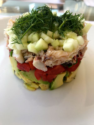 Crab salad with gazpacho vinaigrette by ZsL