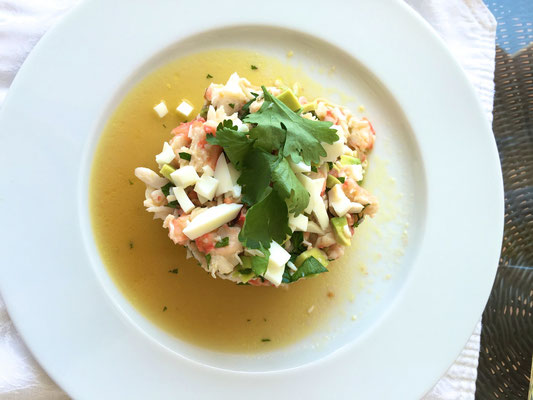 Crab salad with lemmon vinaigrette by ZsL