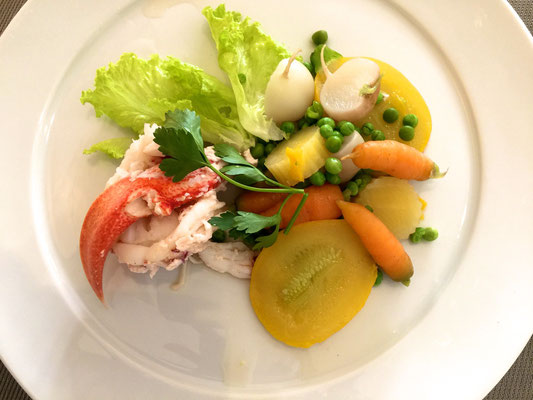 Lobster with summer vegetables by ZsL