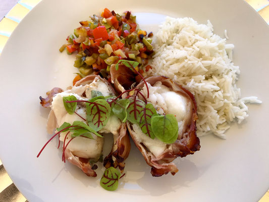 Monkfish with rice and vegetables by ZsL