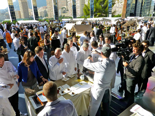 The top chefs met at the Salle des Etoiles at the Sporting in Monaco
