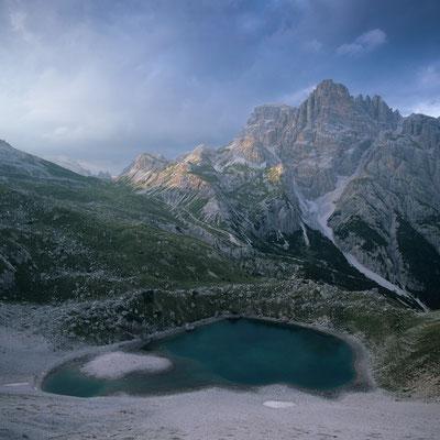Bödenseen vor Dreischusterspitze I Naturpark Sextener Dolomiten